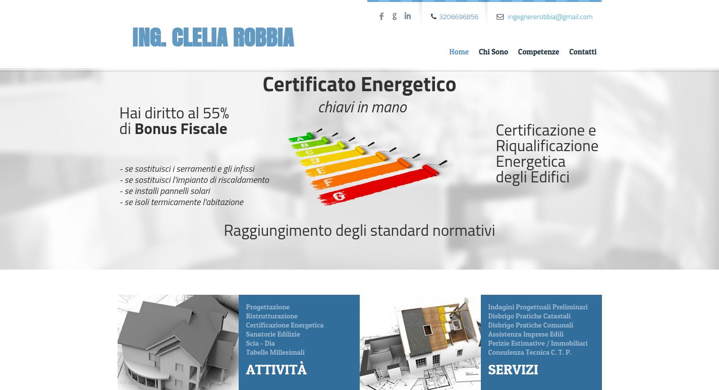 Sito Web Ing. Clelia Robbia