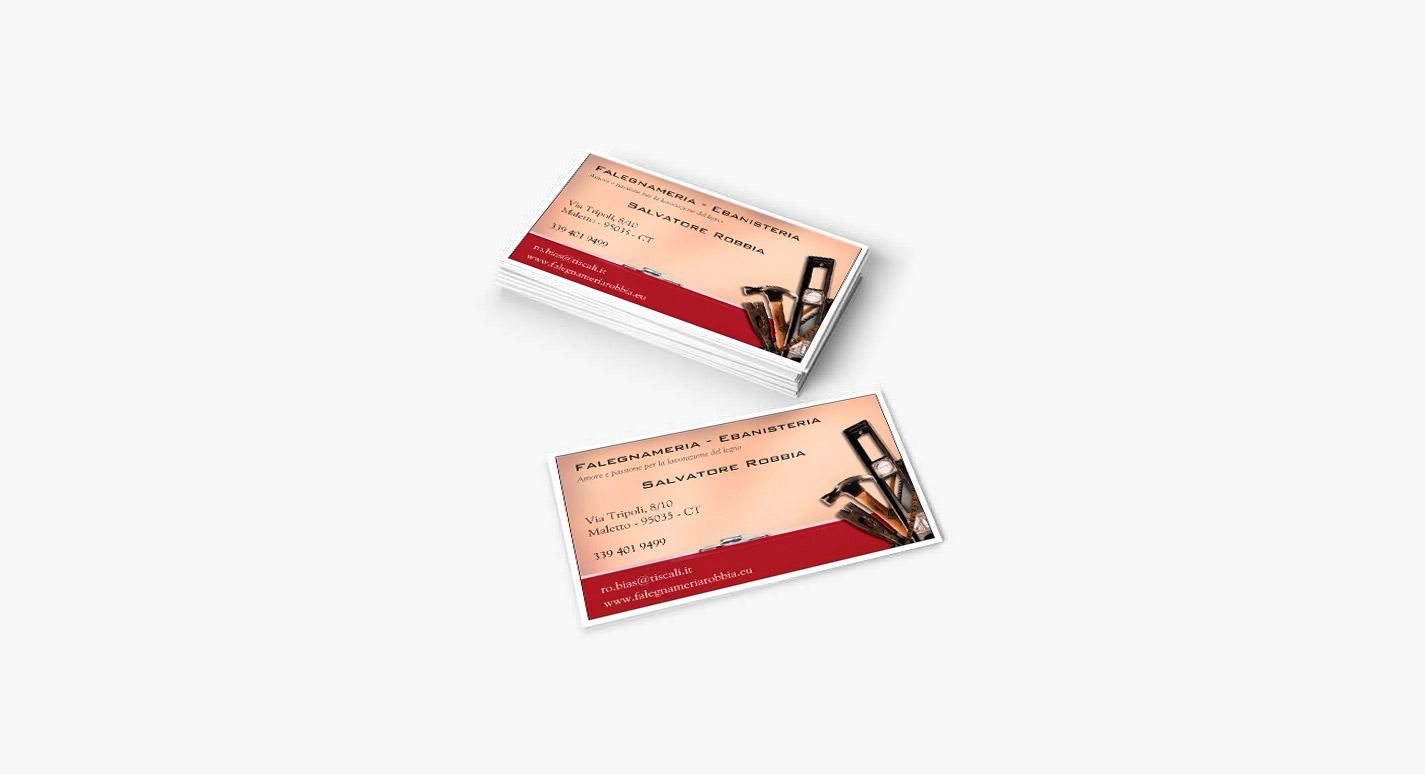 Biglietto da visita Salvatore Robbia
