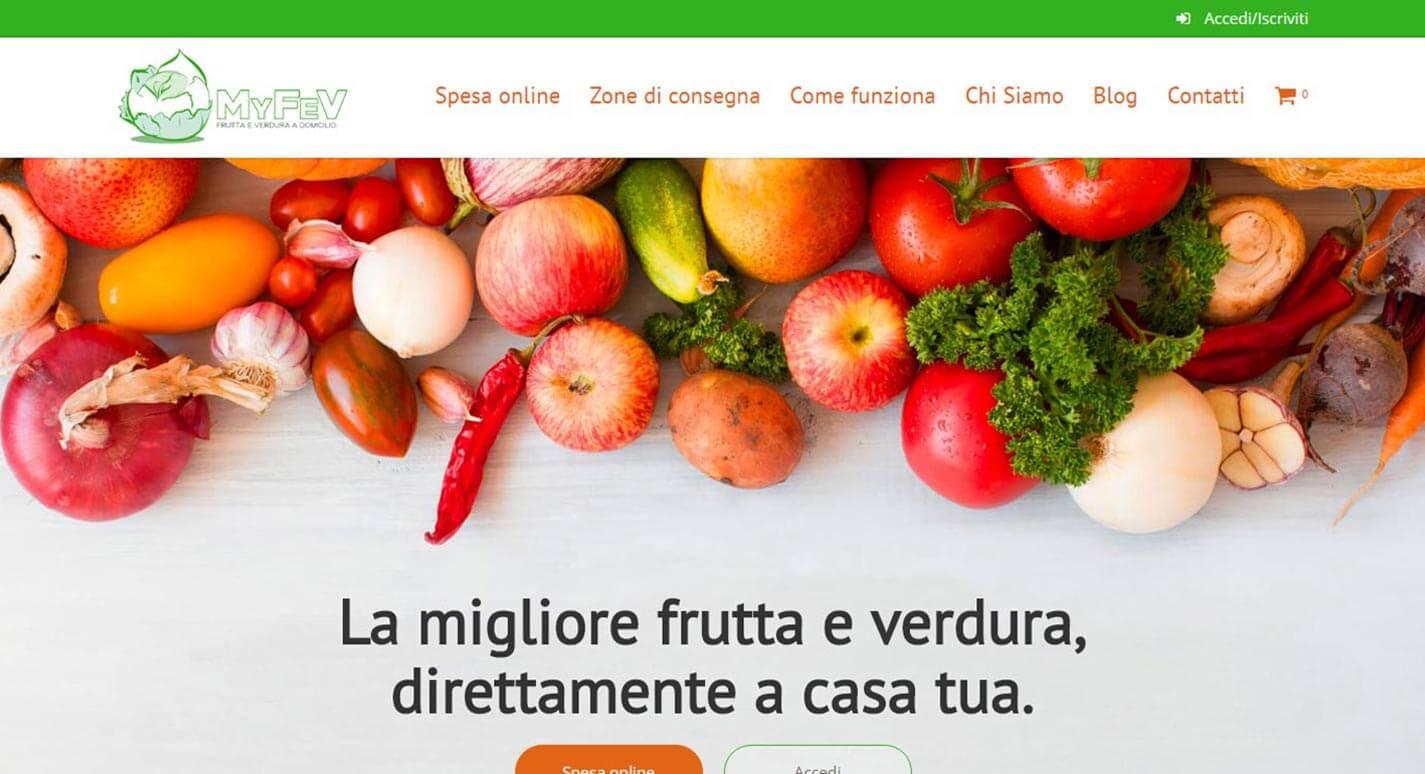 Sito Web Ecommerce MyFev