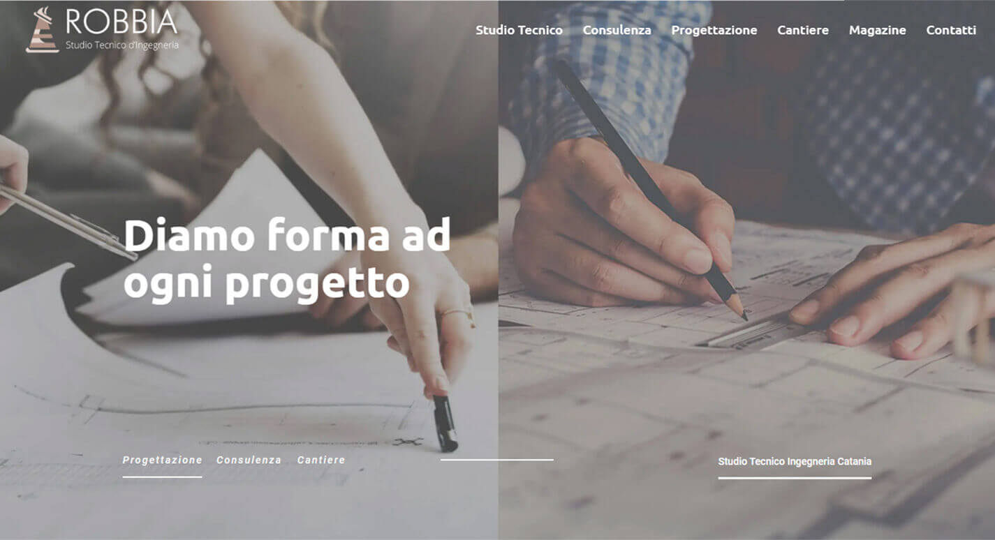 Sito Web Studio Tecnico Ingegneria Robbia